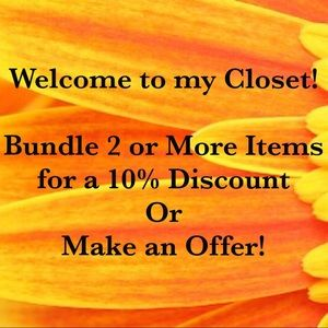 Bundle and Save 10% or Make an Offer!